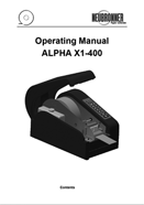 Operating Manual Alpha X1-400